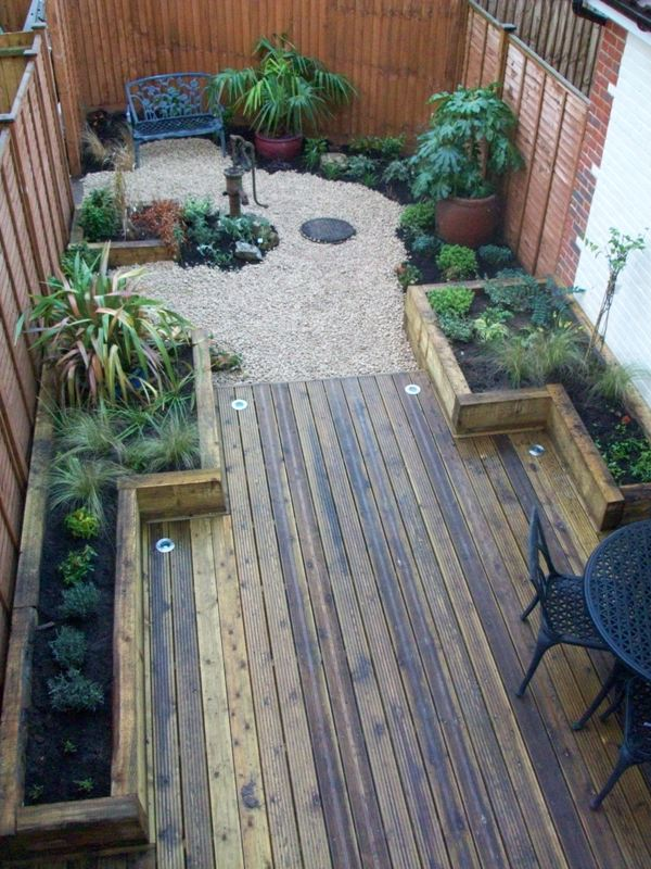 Willing landscape garden designs small for Small garden courtyard designs